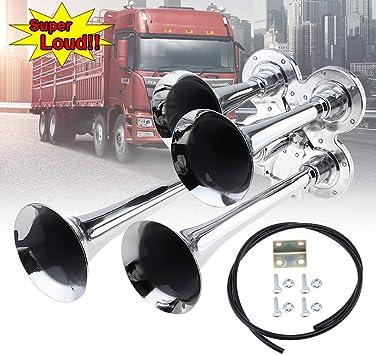 150db Super Loud Dual Trumpet Air Horn Trumpet For Car Vehicle Truck Train Van