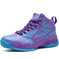 LANSEYAOJI Niños Zapatillas de Baloncesto High-Top Al Aire Libre Calzado Deportivo Moda Lace Up Sneaker Ligeros Zapatos…