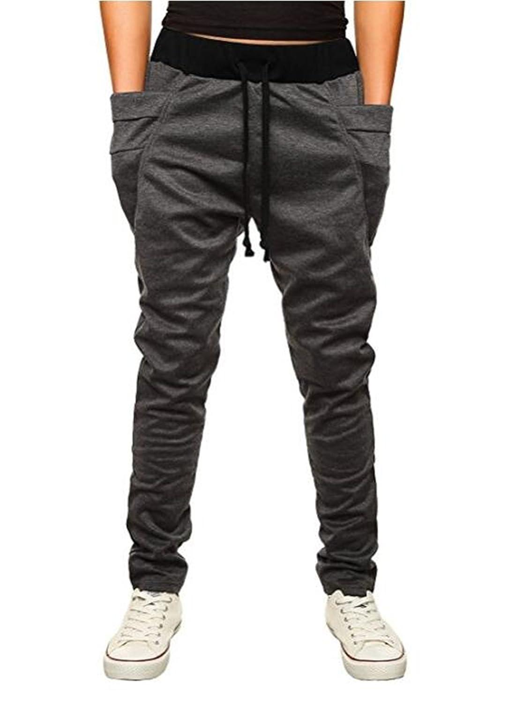 OBT Boy's Slim Casual Comfy Skinny Running Jogger Pants