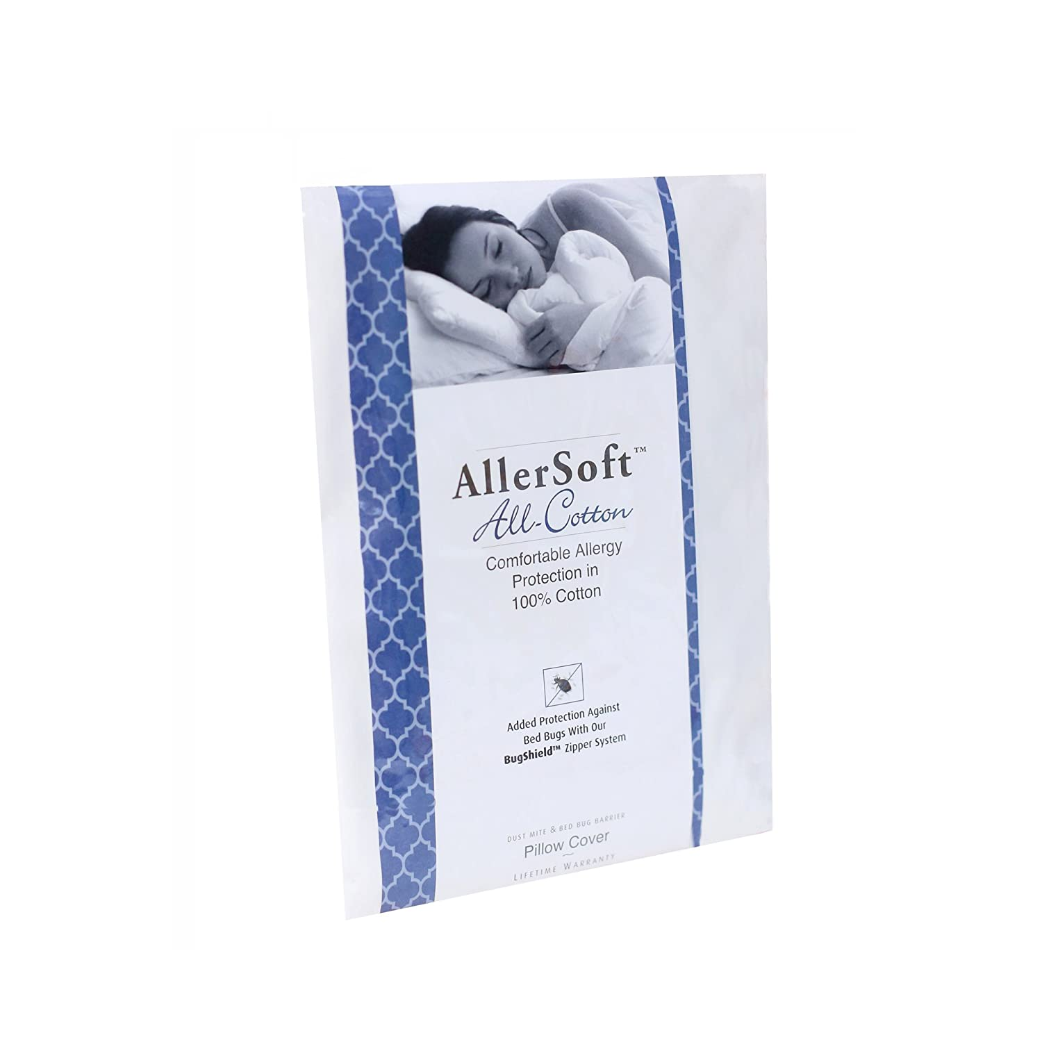 White Allersoft Queen 4 Pack Allergy and Bed Bug Proof Pillow Cover