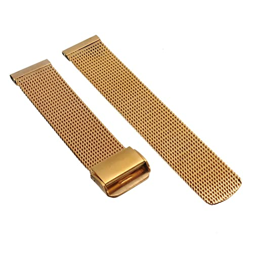 20/21/22/mm Herren Damen Gold Stahl Edelstahl Quarz Wrist Uhren-Armband Uhrenarmbänder Uhrband Watch...