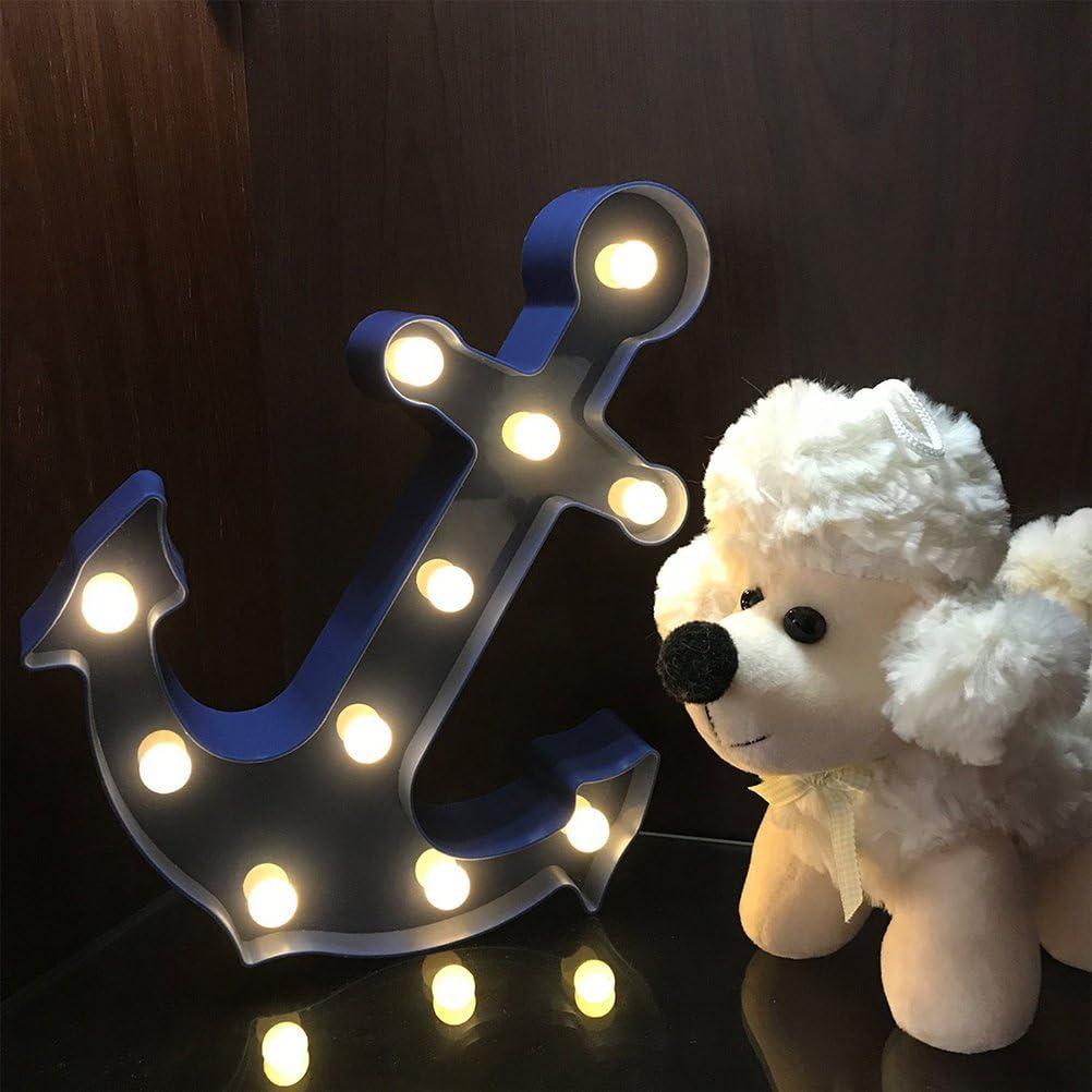 LEDMOMO LED Anker Tischlampe Nachtlicht f/ür Weihnachten Home Hochzeit Party Dekoration