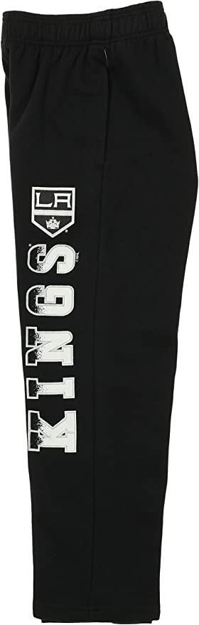 Black Outerstuff NHL Youth Boys Los Angeles Kings Classic Fade Fleece Pants