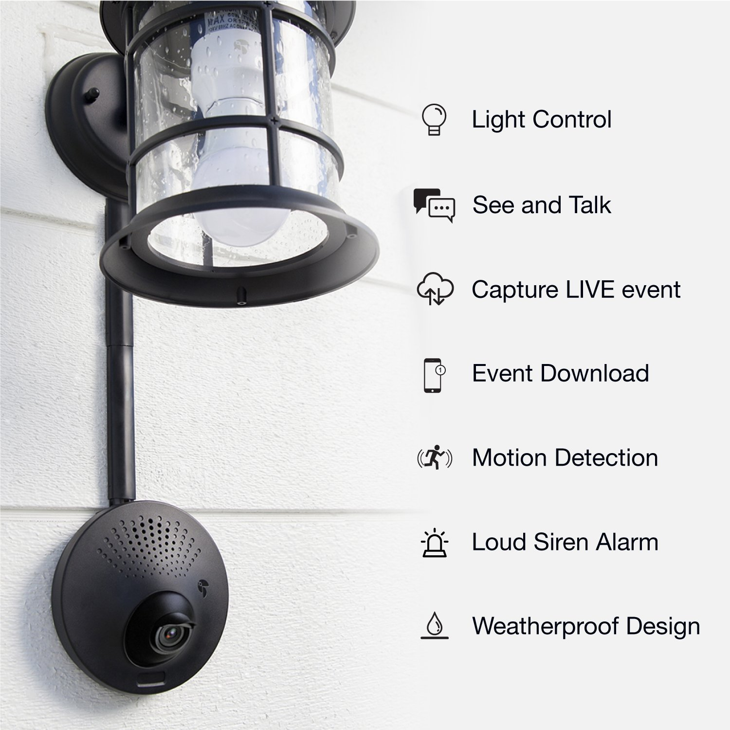 How To Install A Light Fixture Without Existing Wiring Weatherproof Outdoor Security Camera Toucan Powered By Includes Smart Socket And Bulb Works With Alexa Google Assistant Free 2 Hour Video Look Back Subscription