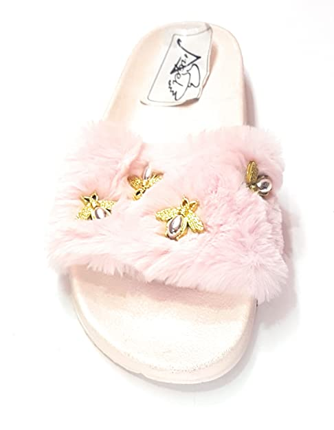 4db3bacb7be Angel Fashion Cute New Design Fur Sandal for Women  Buy Online at Low  Prices in India - Amazon.in