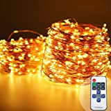 HarrisonTek( 165FT 500LED + RF Remote Control Dimmer + UL Certified Adapter) Micro LED Starry String Light, Waterproof Copper Wire Fairy Lights for Xmas Holiday Wedding Garden Tree Party Decorations