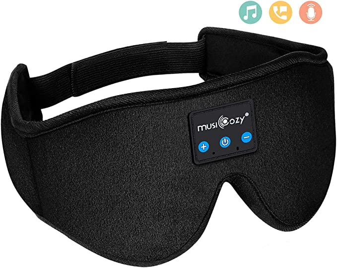 Amazon.com: MUSICOZY Sleep Headphones Bluetooth Wireless Sleeping Eye Mask, Office Travel Unisex Birthday Gifts Men Women Who Have Everything Top Cool Tech Gadgets Unique Mom Dad Her Him Adults Teen Boys Girls: Home Audio & Theater