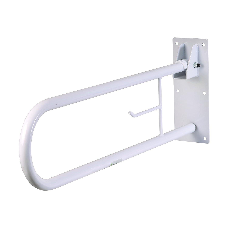 HealthSmart Fold Away Grab Bar Handrail Shower Safety Rail, White 522-3700-1700