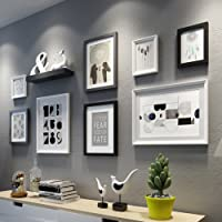 8 Set Picture Frames Collage Photo Frames Wall Mounting Photo Frames Eco-Friendly Family Photo Frame (Picture Frame),C