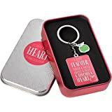 "Pink Blessings to the Teacher ""Touches a Heart"" Keyring - 1 Corinthians 16:14"