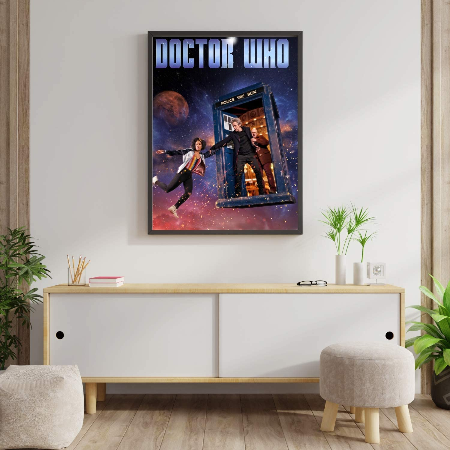 Police Box Poster Compatible with Doctor Who, Art Print, Wall Decor for Bedroom Living Room Office College Room, Great Gift Idea, Decoration Unframed Size (XL - 24