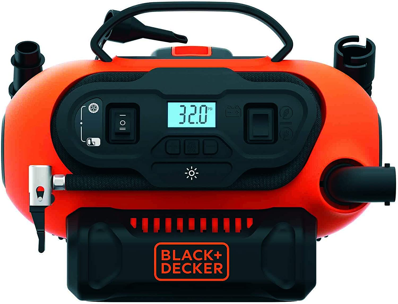 Black & Decker BDCINF18N-QS BDCINF18N-QS-Inflador de Aire CA/CC para 230V/12V/18V