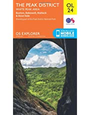 Ordnance Survey Explorer OL24 The Peak District With Digital Version