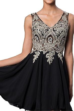 ea6a11c60b6 Erosebridal Short Homecoming Dress With Jewel Embellished Sheer Bodice  Black US2