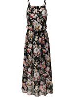 Bohemian Queen Floral Empire Waist Chiffon Maxi Summer Beach Casual Dress