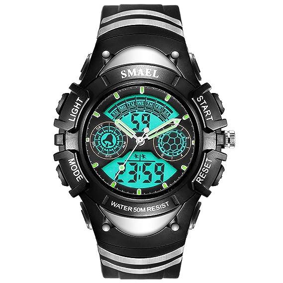 Daesar Relojes Niños Reloj de Doble Pantalla Reloj Impermeable Relojes LED Reloj Hombre Luminoso Reloj Despertador Reloj Deportivo Relojes Electronicos ...