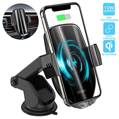 ODOMY Wireless Car Charger Mount Auto Clamping Qi Car Mount Air Vent Phone Holder 10W Fast Charging Compatible with iPhone Xs/Max/X/XR/8/8 Plus,Samsung Note 9/S9/ S9+/ S8/S8+: Home Audio & Theater