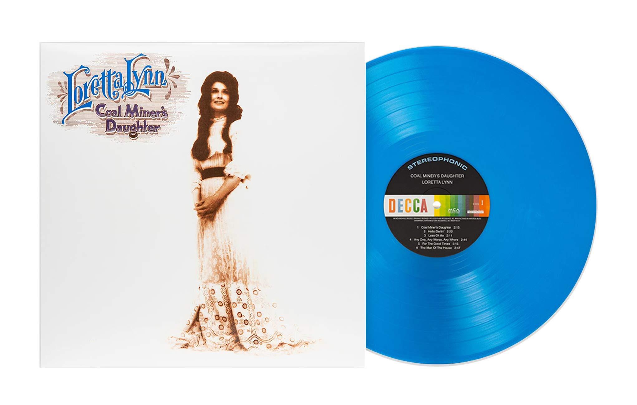 Loretta Lynn - Coal Miner's Daughter Exclusive Edition Marbled Blue Vinyl LP by UniversalRecords