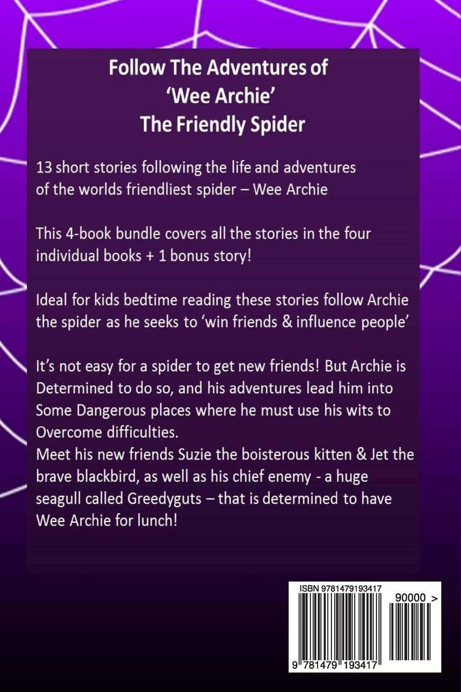 archie the friendly spider 4 book bundle kids short story books