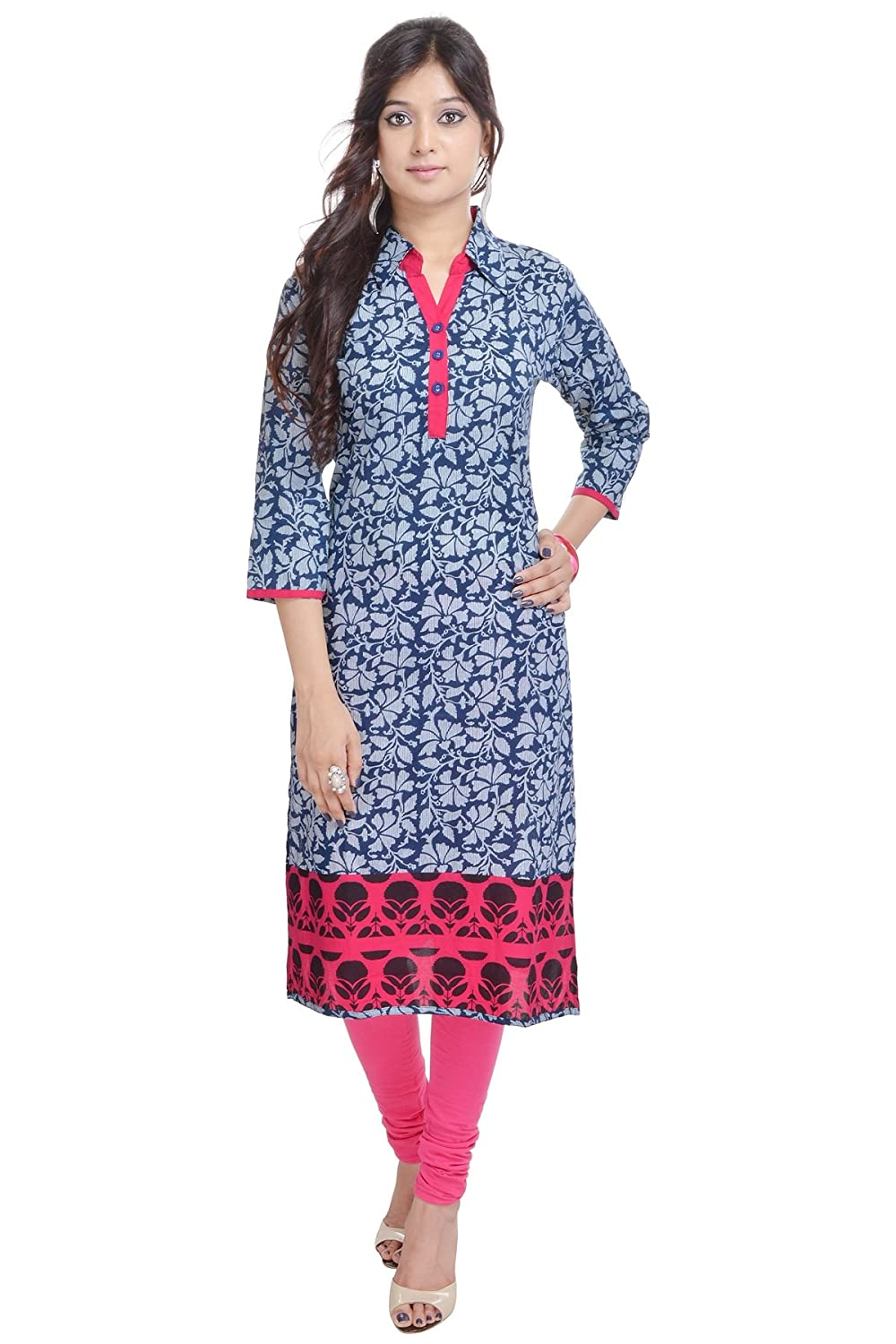 Vihaan Impex Indian Jaipuri Ladies Printed Designer Kurti VIKU2366_S