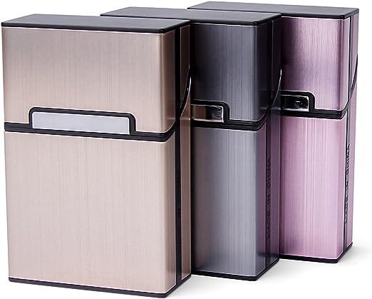 LUWANZ 3pcs Cigarrillos Caja de Metal con Cierre magnético, Caja ...