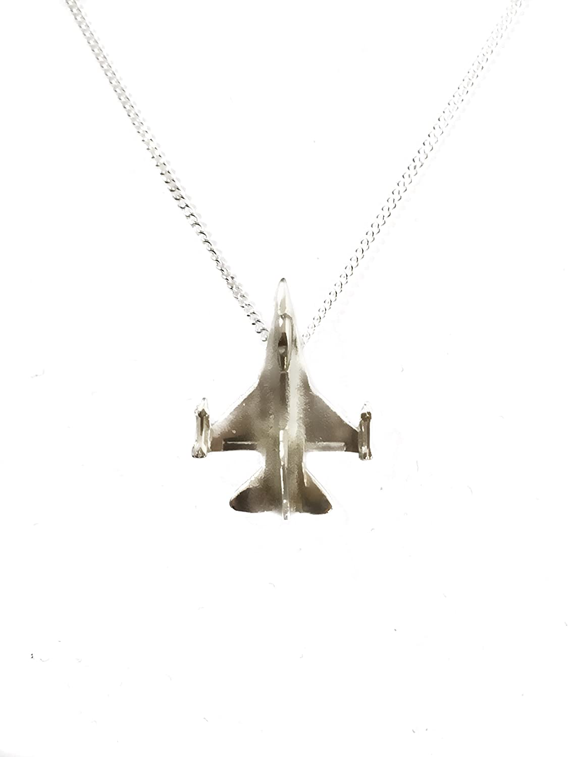 F-16i Model Model Israel Air Force Fighting Falcon Solid Sterling Silver 925 Pendant