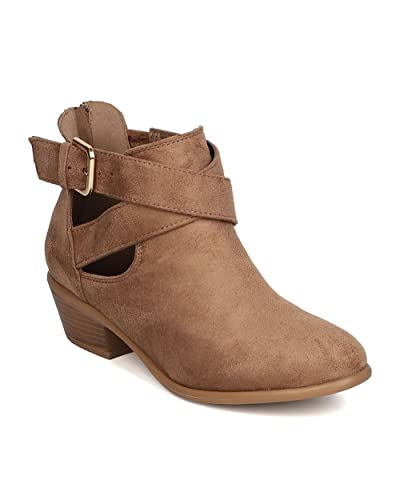 Strap Out of It Faux Suede Bootie