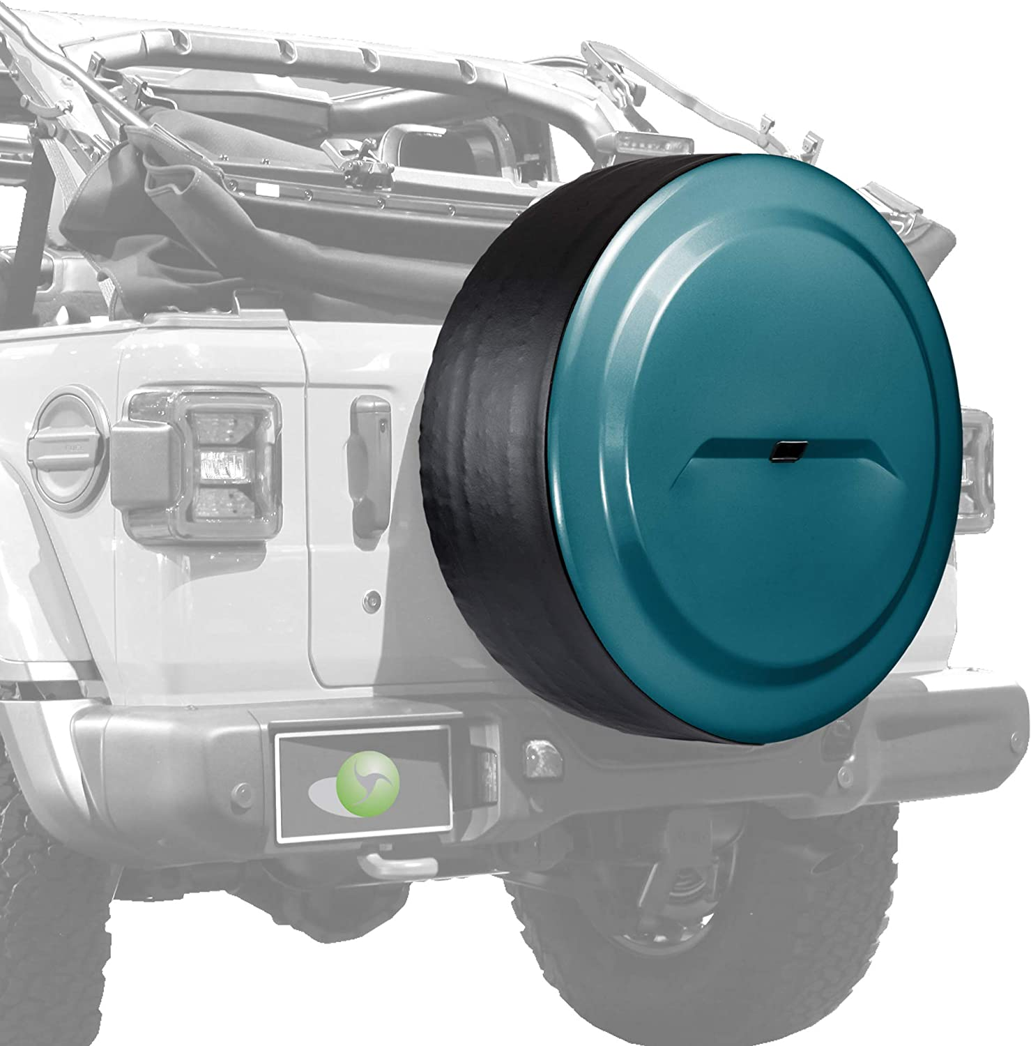 for use with 2018-2019 Jeep Wrangler JL 32 Color Matched Rigid JL Tire Cover - Bikini Plastic Face /& Vinyl Band with Back-up Camera Boomerang