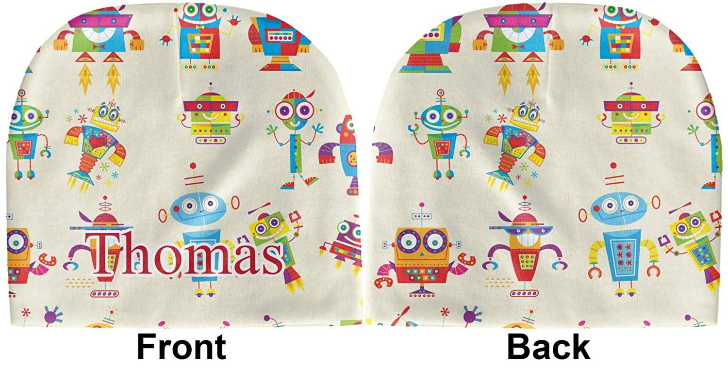 Green Beanie YouCustomizeIt Rocking Robots Baby Hat Personalized