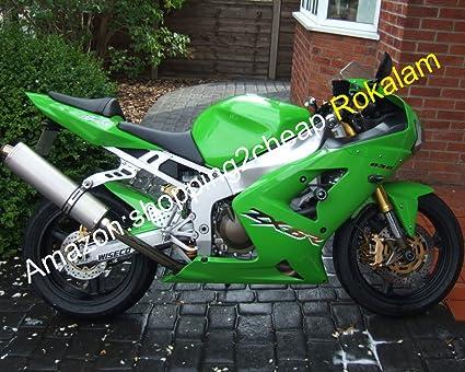 Kawasaki Green Fairings Ninja ZX6R 03 04 ZX 6R 636 2003 2004 ...