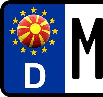 3 X Kennzeichen Aufkleber Ball Mazedonien Flagge Kfz Motorrad Fanshirts4u Auto