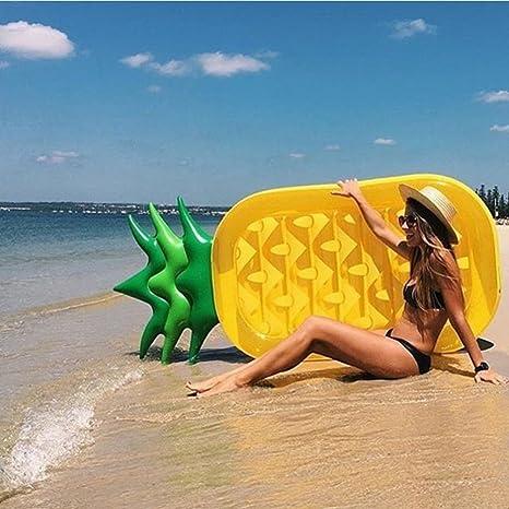 SKYTEARS Piña Hinchable Colchonetas Piscina, Inflable Flotador Gigante de Piña para Adulto(E)