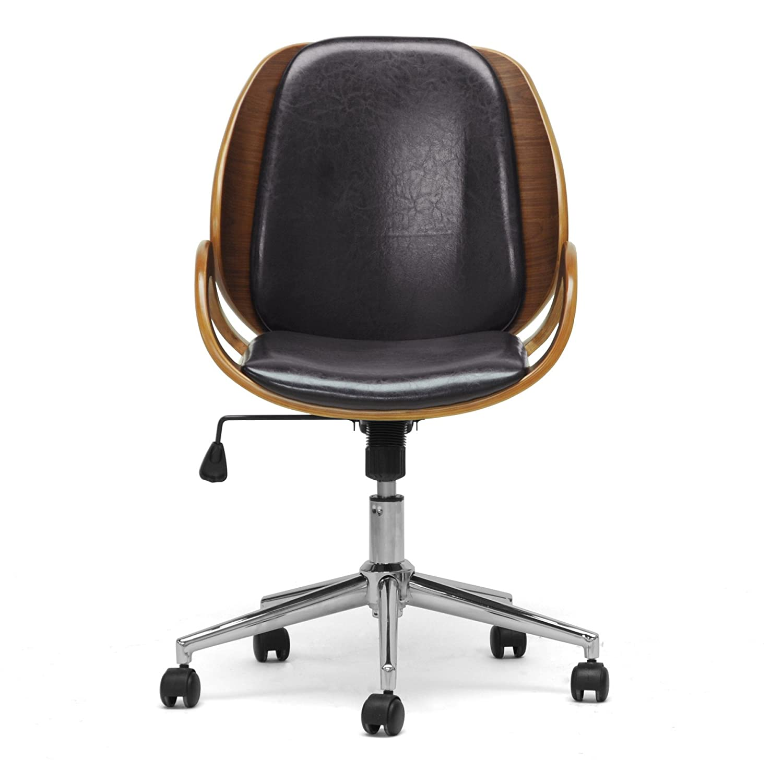 Amazon Baxton Studio Watson Modern fice Chair Walnut Black