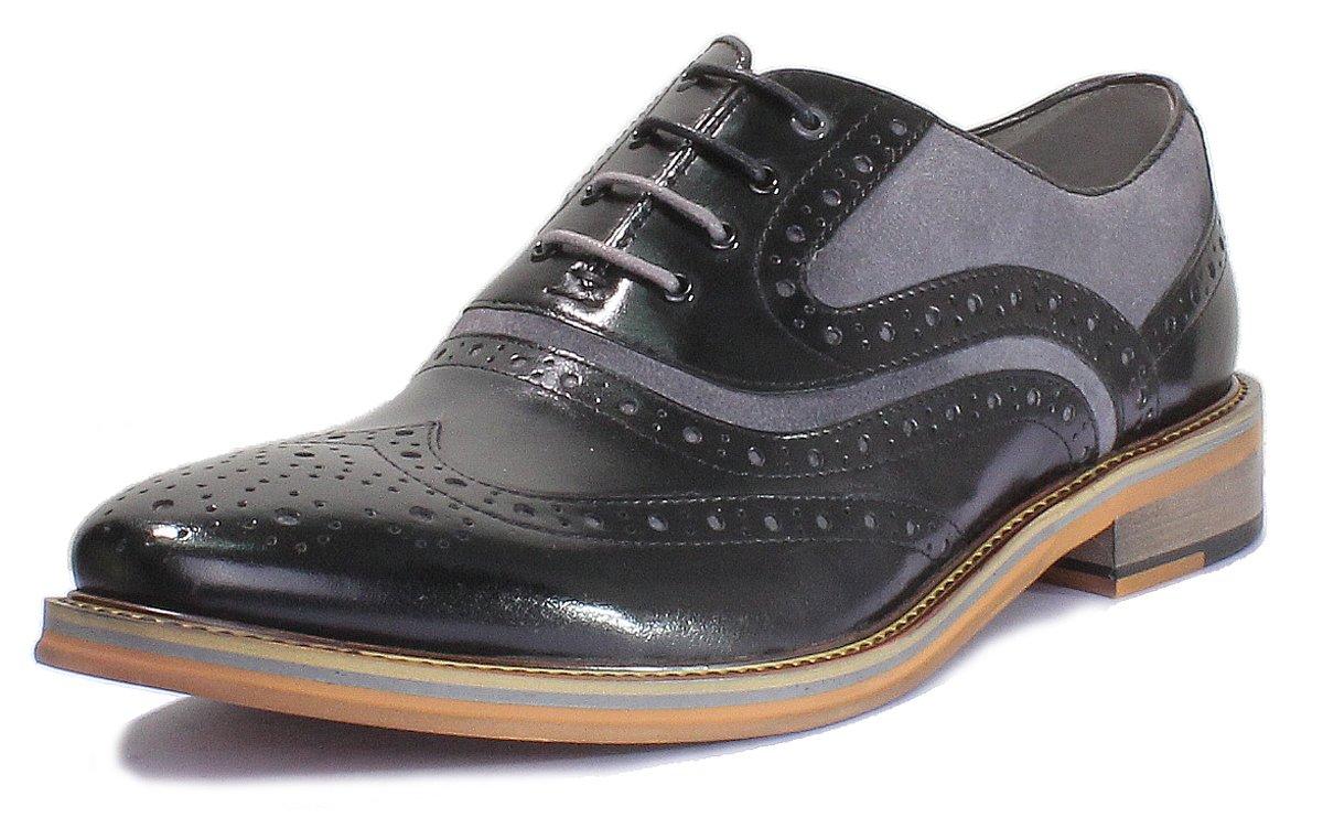 Justin Reece Bryan travail de bureau en cuir pour homme à lacets formelle Chaussures - - Navy FV1 LmiAEIqQPf,