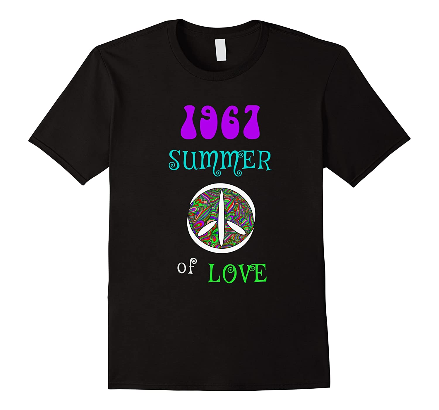 1967 Summer of Love Hippie Peace Sign T-shirt-PL