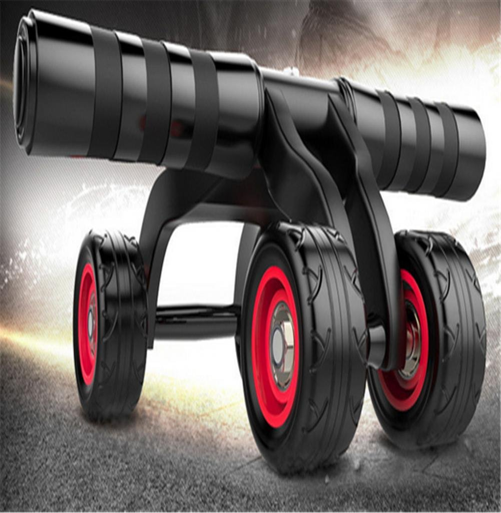 rossoella addominale addominale ruota attrezzature per il fitness multifunzione a quattro ruote casa esercizio fitness ruota Fitness è disponibile per uomini e donne , nero
