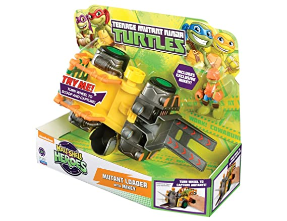 Teenage Mutant Ninja Turtles – héroes de Half-Shell de Las Tortugas Mutantes Cargador vehículo con Mikey
