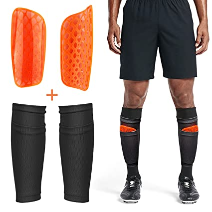 e509e704f Adult Youth Kids Soccer Shin Guards with Compression Calf Sleeves - 1 Pair Shin  Pads +