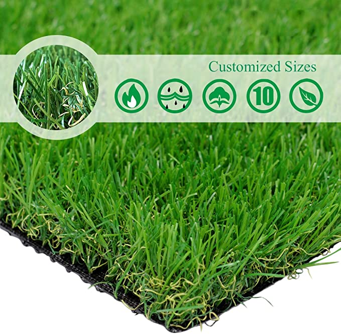 Petgrow Artificial Grass Turf Lawn Turf Artificial Green Synthetic Carpet Mat Easy To Clean 10MM Garden Artificial Turf Waterproof and Fireproof