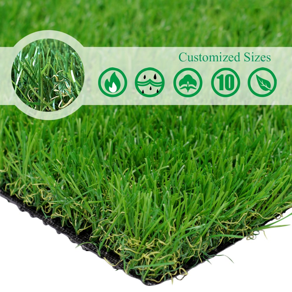 PET GROW Customized Sizes Artificial Grass Turf 3FTX10FT(30 Square FT) - Indoor Outdoor Garden Lawn Landscape Balcony Synthetic Turf Mat - Thick Fake Grass Pet Pad by PET GROW