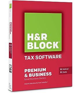 HR Block Tax Software Premium Business 2014 Old