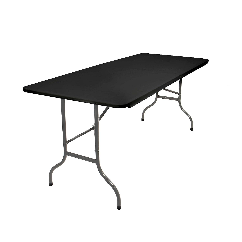 Amazon.de: Vanage Klapptisch in schwarz - Gartentisch mit Kunststoff ...