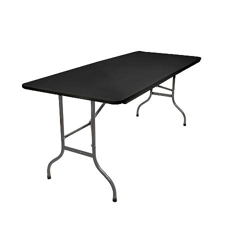 Vanage - Table pliable d\'exterieur en anthracite - Pour les Réceptions,  Buffets ou Table d\'appoint pour Jardin, Terrasse et Balcon – Avec Poignées  de ...