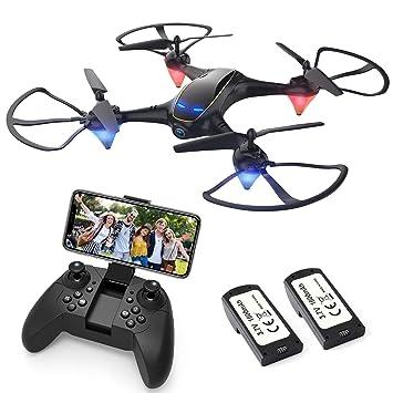 EACHINE E38 Drones con Cámara para Adultos LED Tiempo de Vuelo ...