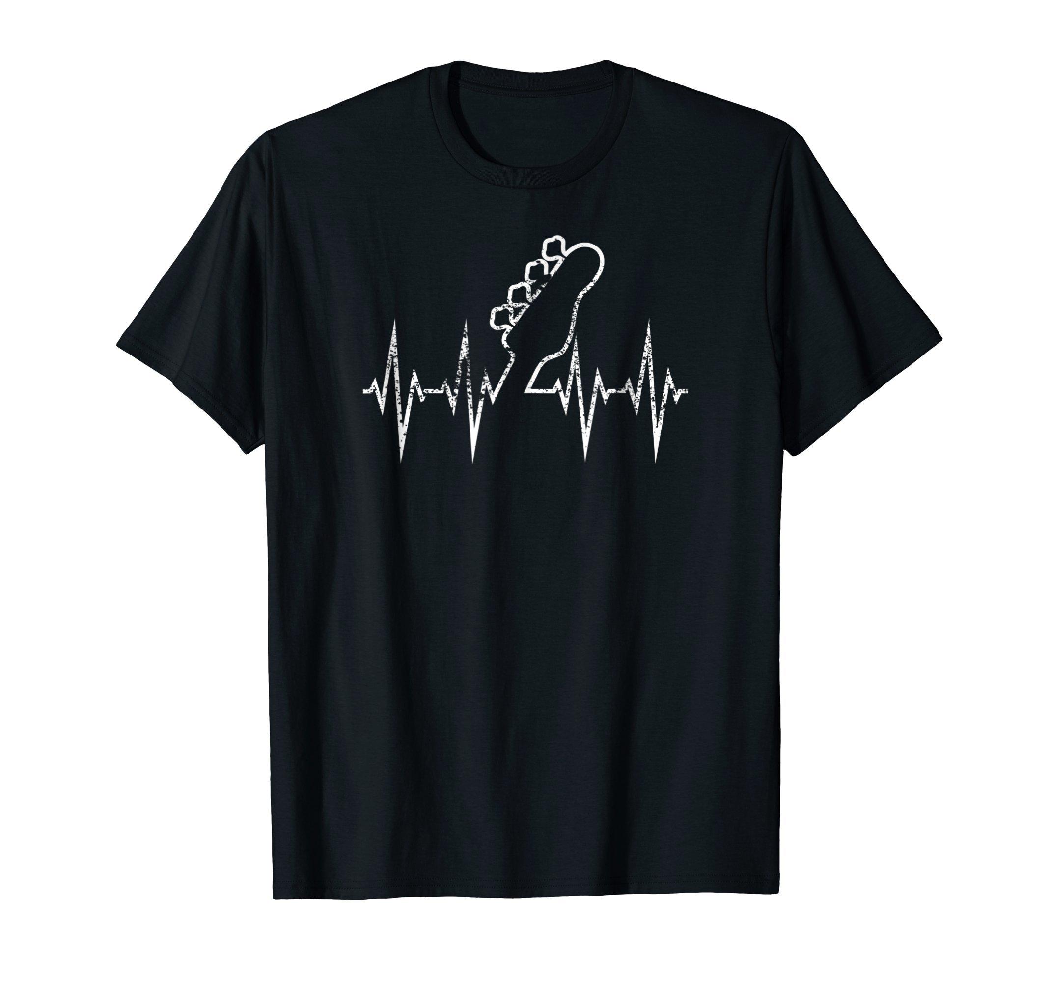 Crazy Heartbeat Electric Bass Guitar Rock Music Gift Shirt