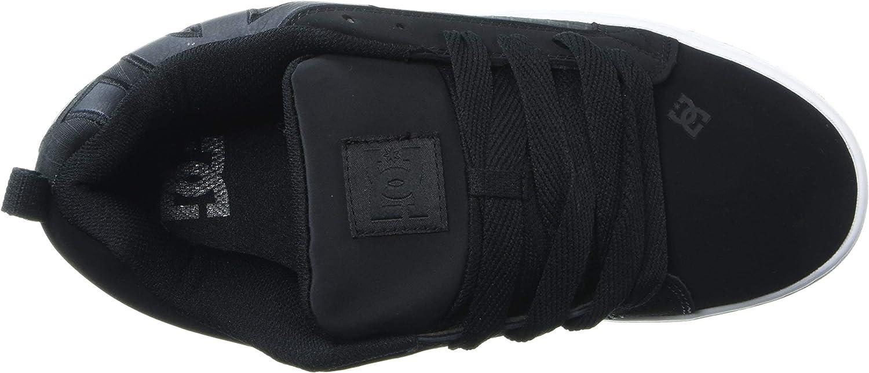 8.5 D M US DC Mens Court Graffik SE Skate Shoe Grey//White//Grey