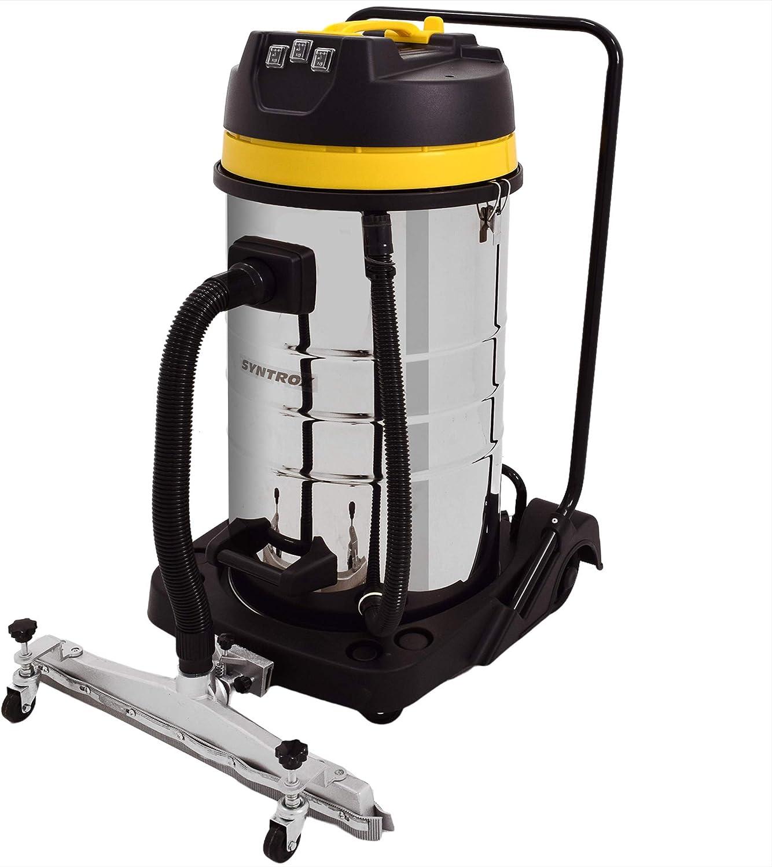 Syntrox Germany 3900 Watt 100 litros de acero inoxidable con la aspiradora industrial aspirador mojado y seco aspiradora: Amazon.es: Bricolaje y herramientas