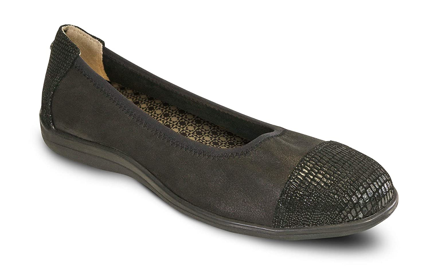 Revere Rhodes Womens Casual Shoe Leather Slip-on