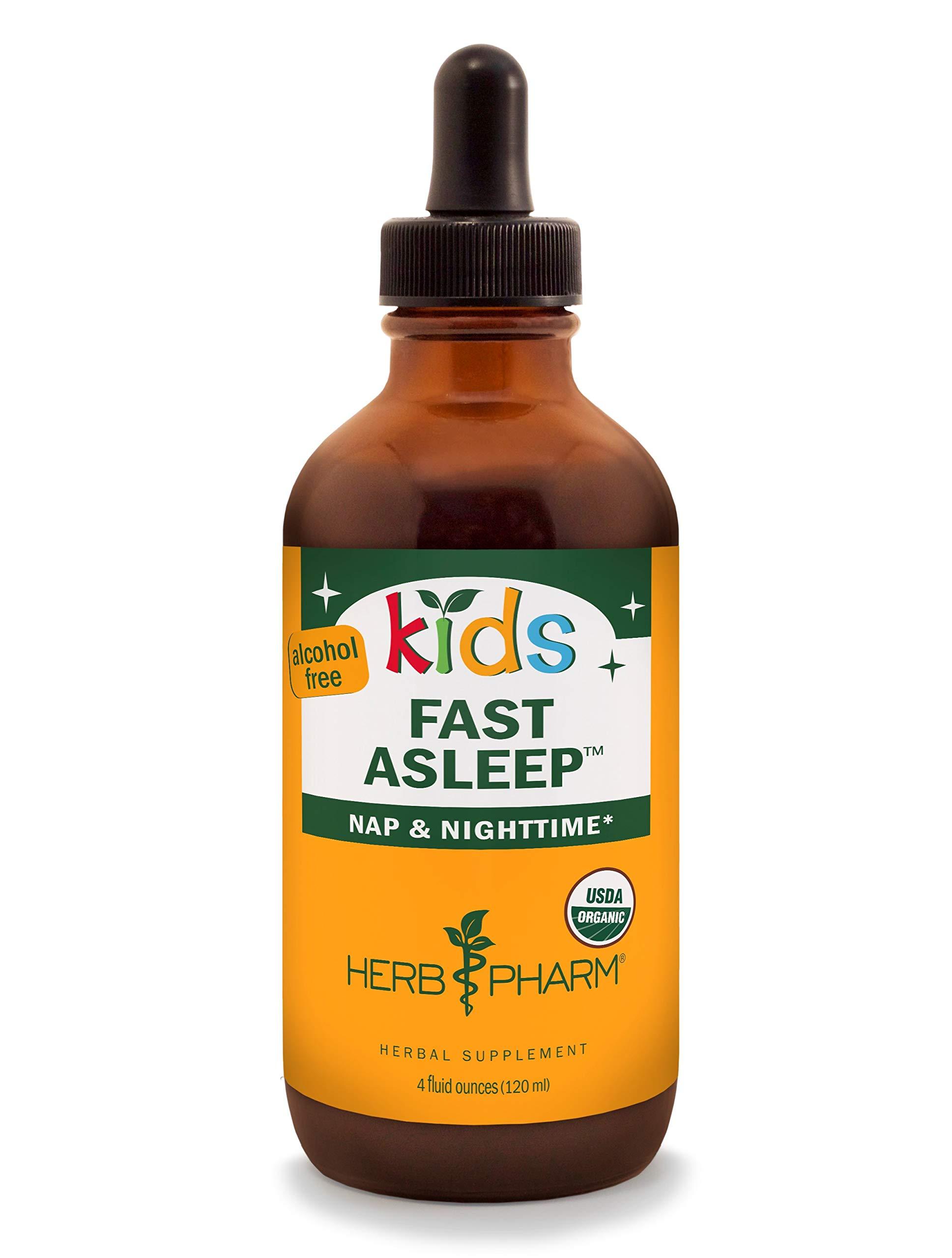 Herb Pharm Kids Certified-Organic Alcohol-Free Fast Asleep Liquid Herbal Formula, 4 Ounce