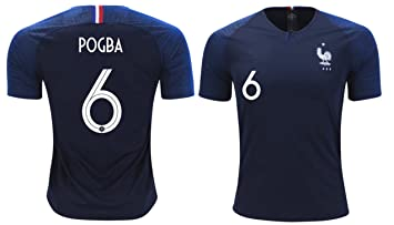 size 40 ff322 78483 France Pogba #6 Soccer Jersey Men's Adult Home World Cup Short Sleeve